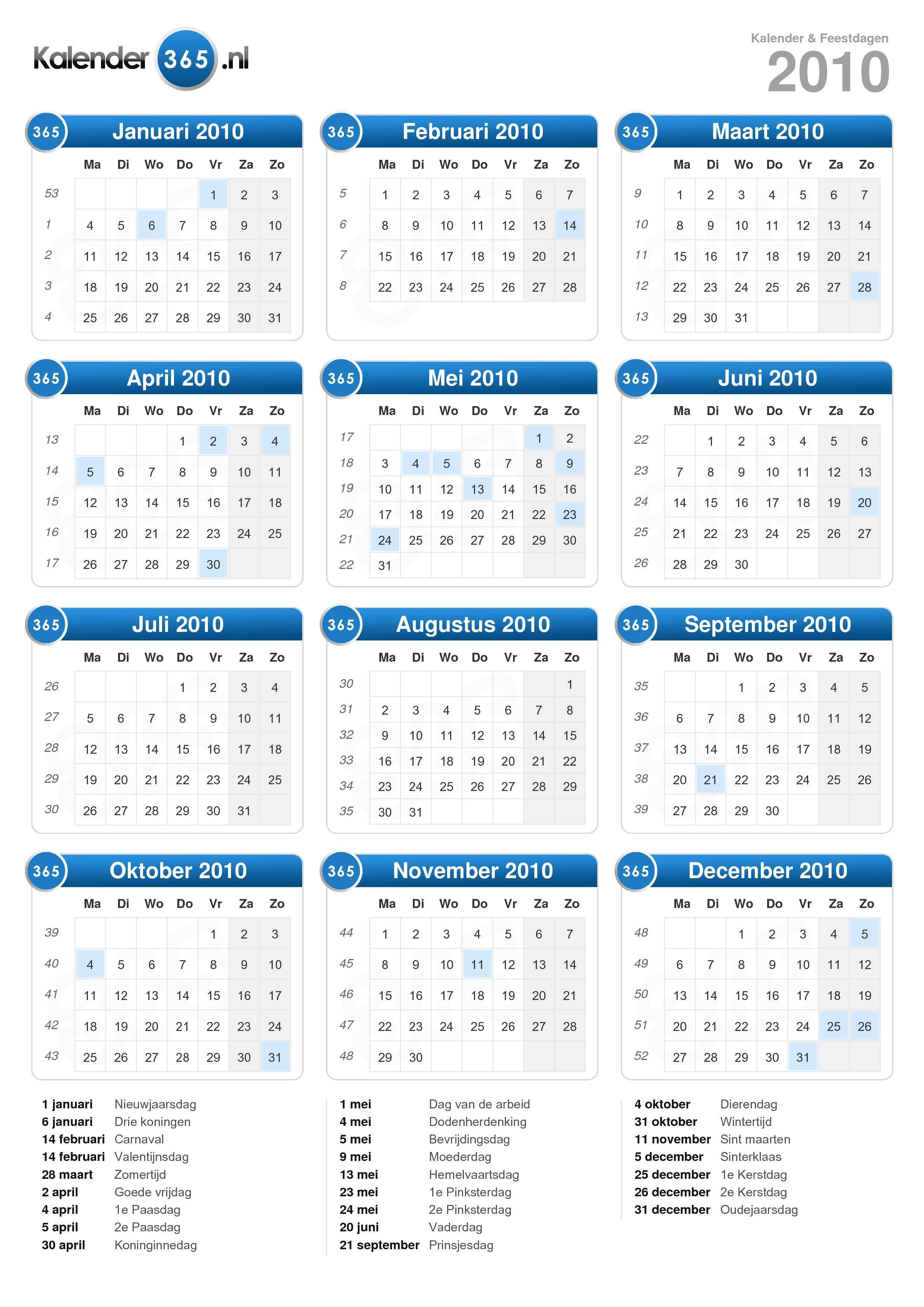 dc780d39280 Kalender 2010 (staand formaat)