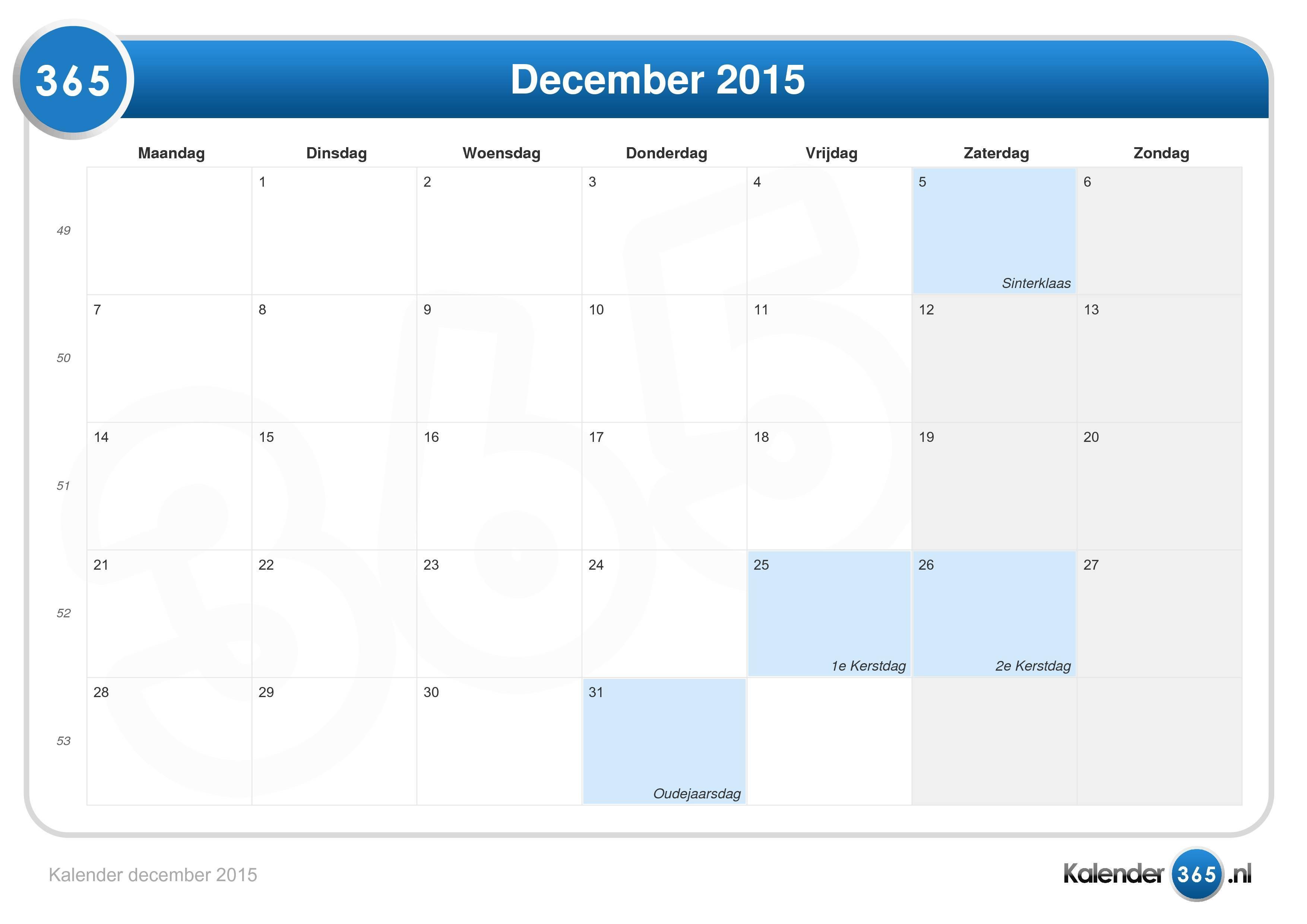December 2015 2015 Images   Calendar Template 2016