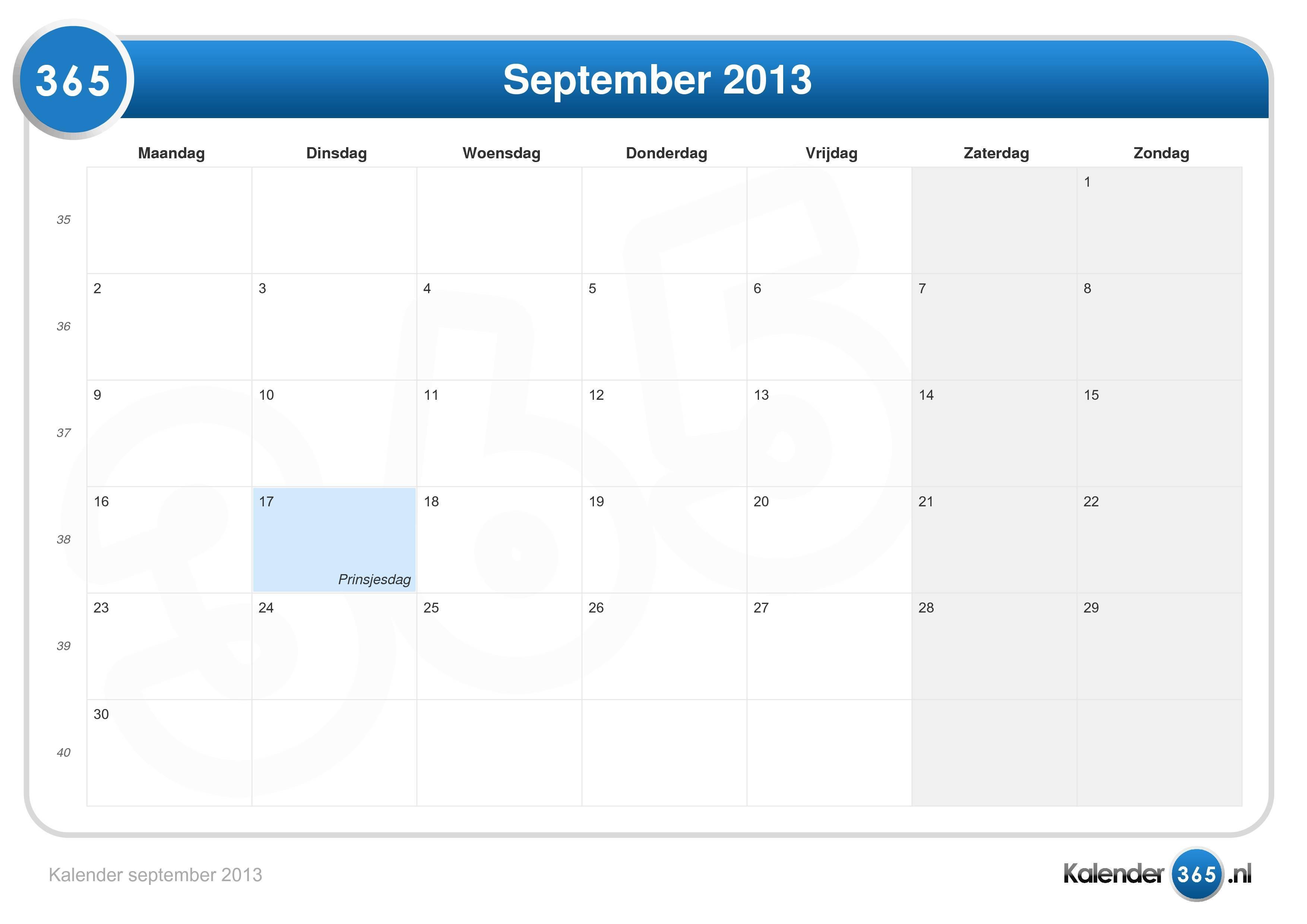 Kalender september 2013